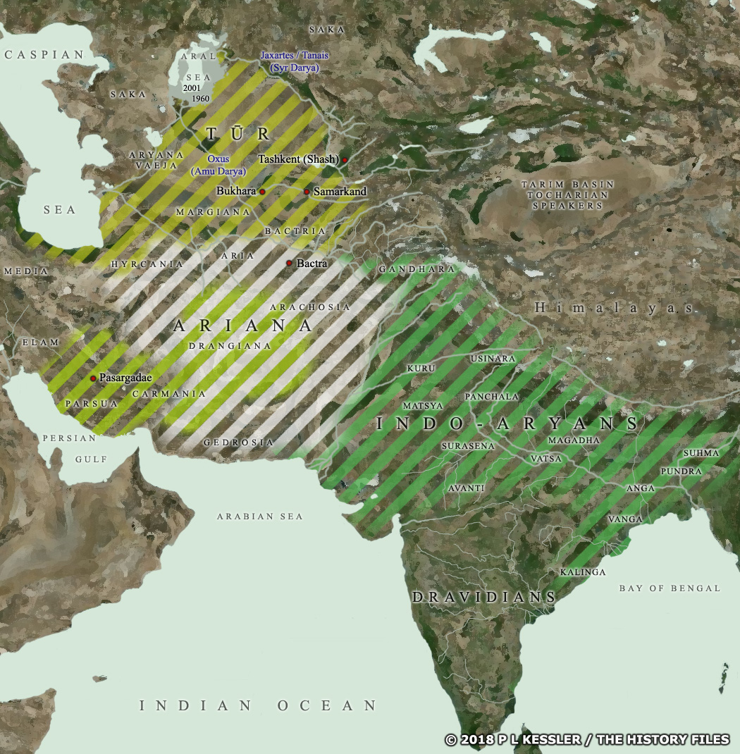 Map of Central Asia &: India c.700 BC