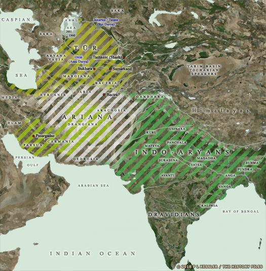Map of Central Asia & India c.700 BC