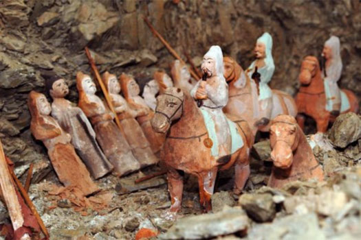 Gokturk mounted figurines