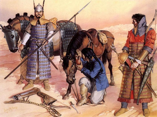 Early Turk warriors