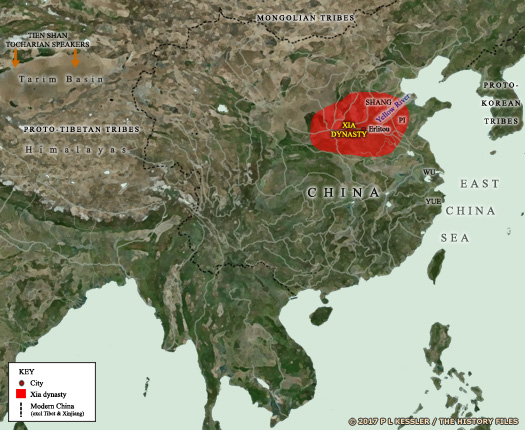 Map of Xia China c.2000 BC