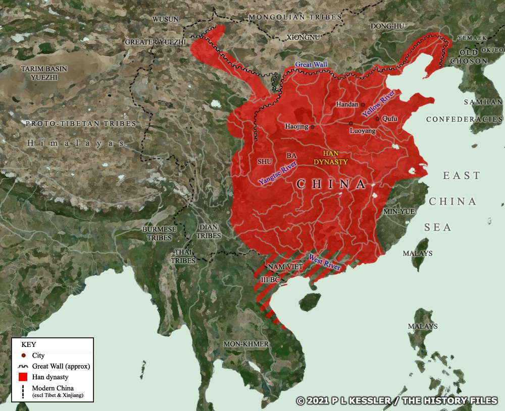 Map of Han China c.200 BC