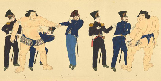 Commodore Perry's second visit to Japan, 1854