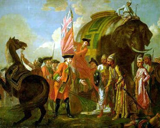 Clive of India meets Mir Jafar after the Battle of Plassey