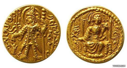 Coin issued by Vasudeva II