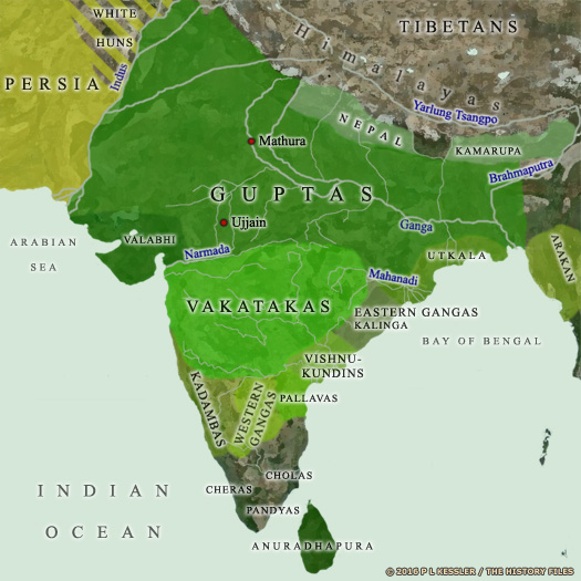 Map of India c.AD 500