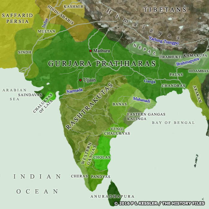 Map of India c.AD 900