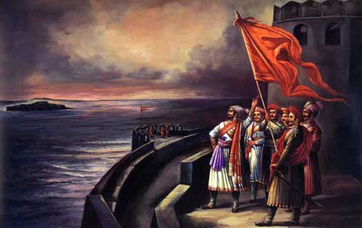 Shivaji inspects his naval forts