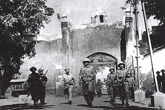 Indian troops enter Goa