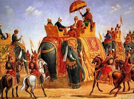 Ranjit Singh meets Sir William Bentinck 1831