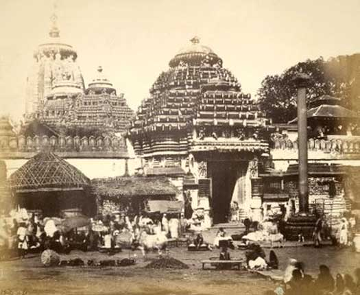 The temple of Jagannatha at Puri