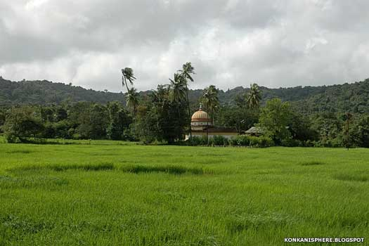 Goa countryside and Pilgaon Temple