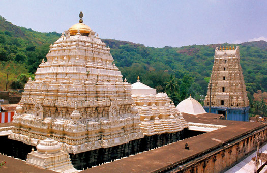 The temple at Simhachalam