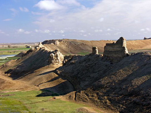 Ancient Bactra/Balkh city walls