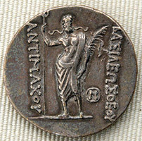 Silver tetradrachm issued by Antimachus I Theos
