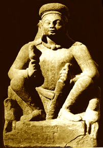 Kushan king sculpture