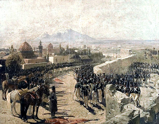Siege of Yerevan Fortress, 1827, Franz Roubaud