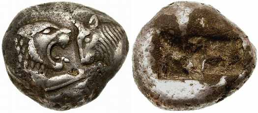 Coins of Croesus of Lydia