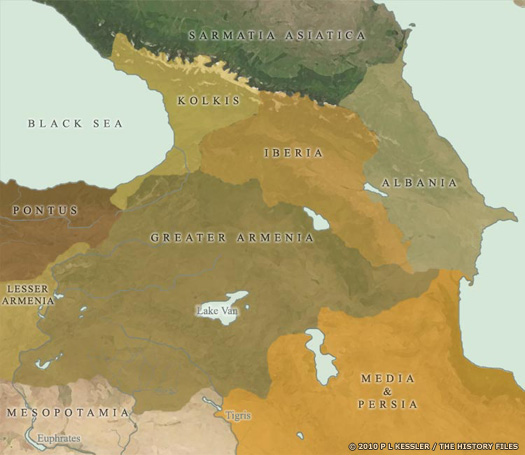 Map of Eastern Rome's Borders circa AD 1-200