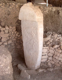One of Gobekli Tepe's stone pillars