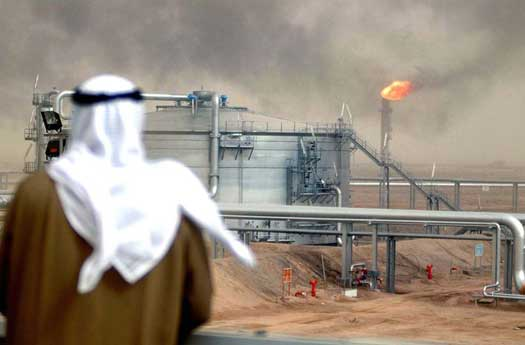 Oil refinery in Saudi Arabia