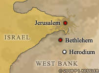 Map of Jerusalem Map of Herodium