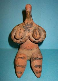 Halaf fertility goddess sculpture