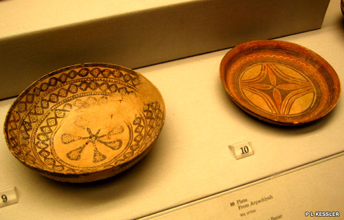 Halaf period hand-made pottery