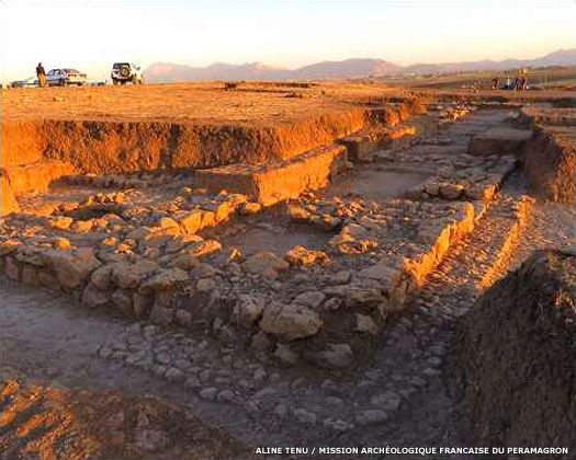 The archaeological site at Kunara in Kurdistan