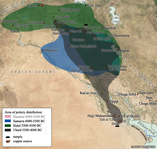 Map of the Ubaid Culture in Mesopotamia