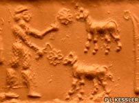 Cylinder seal from Uruk 3300 BC