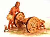 Early Sumerian wheelwright