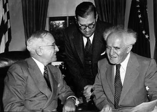 David Ben-Gurion and Harry Truman